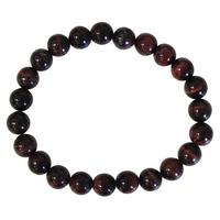 Bracelet Perles Rondes Oeil de Taureau - 8 mm (Lot de 3)