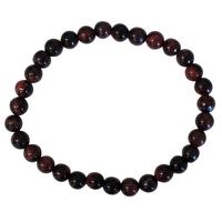 Bracelet Perles Rondes Oeil de Taureau - 6 mm (Lot de 3)