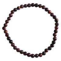 Bracelet Perles Rondes Oeil de Taureau - 4 mm (Lot de 3)