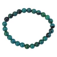 Bracelet Perles Rondes Chrysocolle Chauffée - 8 mm (Lot de 3)