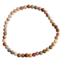 Bracelet Perles Rondes Agate Crazy Lace - 4 mm (Lot de 3)