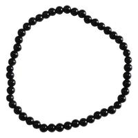 Bracelet Perles Rondes Onyx Noir - 4 mm (Lot de 3)