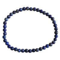 Bracelet Perles Rondes Lapis Lazuli - 4 mm (Lot de 3)