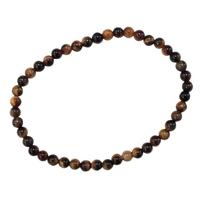 Bracelet Perles Rondes Oeil de Tigre - 4 mm (Lot de 3)