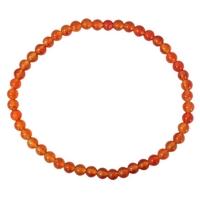 Bracelet Perles Rondes Cornaline - 4 mm (Lot de 3)