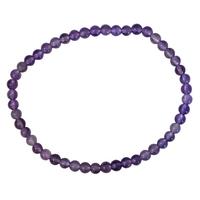 Bracelet Perles Rondes Améthyste - 4 mm (Lot de 3)