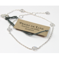 Bracelet en Argent Avec Pierres en Pierre de Lune de 4 mm