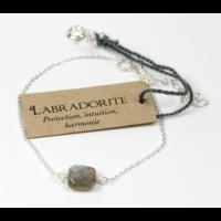 Bracelet en Argent Coussin de Labradorite
