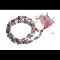 Mala Cristal de Roche - Améthyste - Quartz Rose