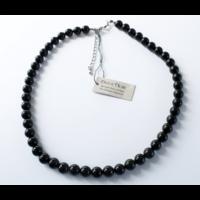 Collier Onyx Noir Perles Rondes 8 mm