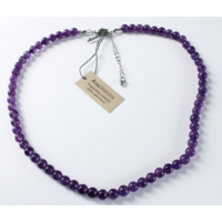 Collier Améthyste Perles Rondes 8 mm