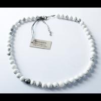 Collier Magnésite Perles Rondes 6 mm