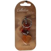 Porte-clef Coeur et Pierres Baroques - Cornalite Chauffée - Lot de 6