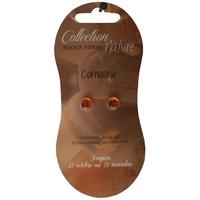 Boucles d'Oreilles Perle 6 mm - Cornaline Chauffée - Lot de 6