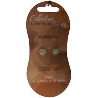 Boucles d'Oreilles Perle 6 mm - Aventurine - Lot de 6