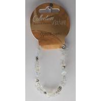 Bracelet Pierres Baroques et Éléments Métalliques - Opalite - Lot de 6