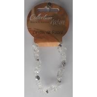 Bracelet Pierres Baroques et Éléments Métalliques - Cristal de Roche - Lot de 6
