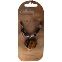 Collier Pendentif Coeur et Perles Baroques - Oeil de Tigre - Lot de 6