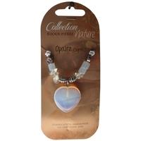 Collier Pendentif Coeur et Perles Baroques - Opalite - Lot de 6