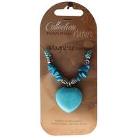 Collier Pendentif Coeur et Perles Baroques - Magnésite - Lot de 6