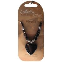 Collier Pendentif Coeur et Perles Baroques- Hématite - Lot de 6