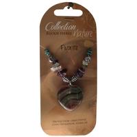 Collier Pendentif Coeur et Perles Baroques - Fluorite - Lot de 6