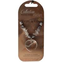 Collier Pendentif Coeur et Perles Baroques - Cristal de roche - Lot de 6