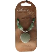 Collier Pendentif Coeur et Perles Baroques - Aventurine - Lot de 6
