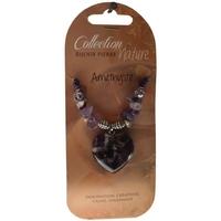 Collier Pendentif Coeur et Perles Baroques - Améthyste - Lot de 6