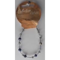 Bracelet Perles 6mm sur Fil Métallique - Sodalite -  Lot  de 6