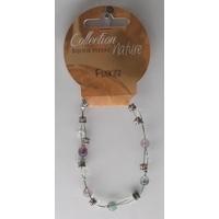 Bracelet Perles 6mm sur Fil Métallique - Fluorite - Lot de 6