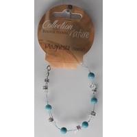 Bracelet Perles 6mm sur Fil Métallique - Magnésite - Lot de 6