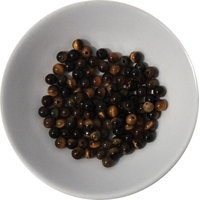 Perles Oeil de Tigre 4 mm - Sachet de 100 Perles
