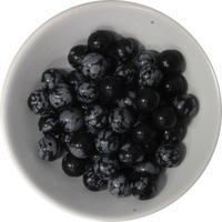 Perles Obsidienne Mouchetée 8 mm - Sachet de 50 Perles