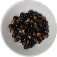 Perles mix Oeil de Tigre et  Oeil de Faucon 6 mm - Sachet de 66 Perles