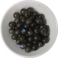 Perles Labradorite 8 mm - Sachet de 50 Perles