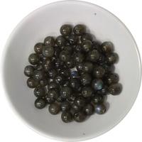 Perles Labradorite 6 mm - Sachet de 66 Perles