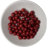 Perles Jaspe Rouge 6 mm - Sachet de 66 Perles