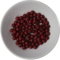 Perles Jaspe Rouge 4 mm - Sachet de 100 Perles