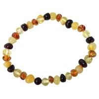 Bracelet Ambre Multicolore Rond