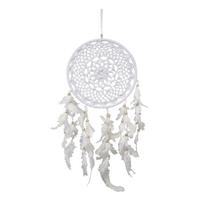 Dreamcatcher Blanc au Crochet 22 cm