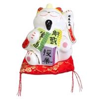Chat Maneki Neko Travail Tirelire Céramique - 10,5 cm