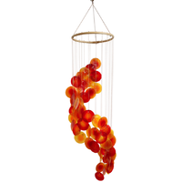 Mobile Coquillages Jaune Orange et Rouge
