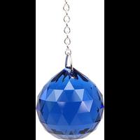 Boule de Cristal à Facettes Saphir Dark : Ajna
