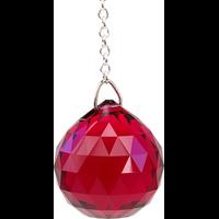 Boule de Cristal à Facettes Bordeaux : Muladhara