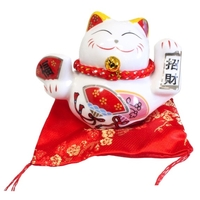 Chat Maneki Neko Joie Tirelire Céramique - 8 cm