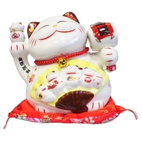 Chat Maneki Neko Protection Tirelire Céramique - 22 cm
