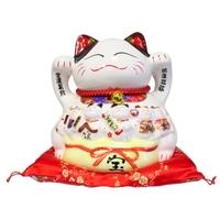 Chat Maneki Neko Travail Tirelire Céramique - 22 cm