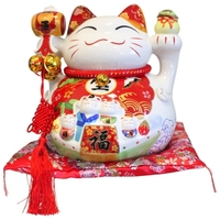 Chat Maneki Neko Chance Tirelire Céramique - 32 cm