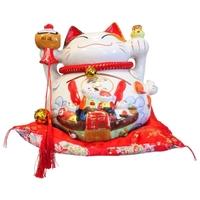 Chat Maneki Neko Santé Tirelire Céramique - 26 cm
